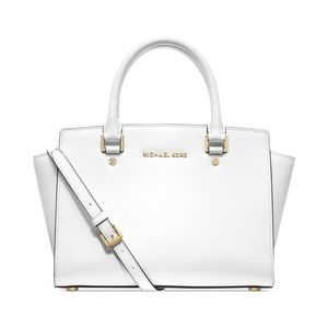 Optic White Michael Kors Large Selma